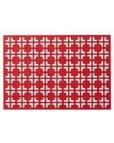Kim Seybert Red/Coral Grid Placemat