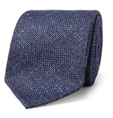 Drakes Drake's 8cm Mélange Wool, Silk and Linen-Blend Tie