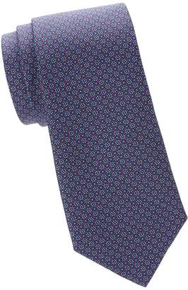 Saks Fifth Avenue Made In Italy Floral Silk Tie