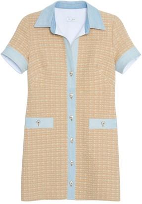 Sandro Mella Tweed Shirtdress