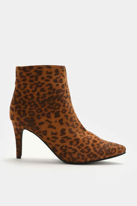 Ardene Leopard Faux Suede Booties