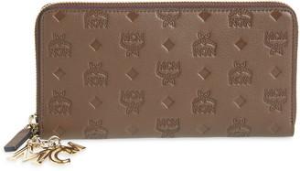 MCM Klara Leather Zip Wallet