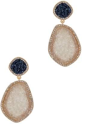 BaubleBar Vina Druzy Crystal Drop Earrings