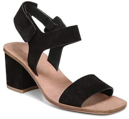 5f84354b19 Via Spiga Black Block Heel Women's Sandals - ShopStyle