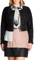 City Chic Plus Size Women's Spliced Player Jacket