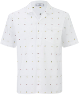 Ami Men's Tailored Collar Short Sleeve Shirt White