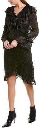 IRO Belloy Silk-Blend Shift Dress