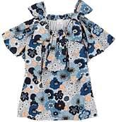 Chloé Kids' Floral-Print Cotton Ruffled Dress