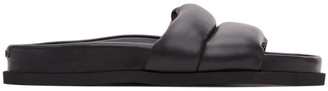 Kenzo Black Leather Komfy Mules