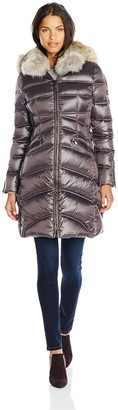 Dawn Levy Cloe II Down Coat with Corest Sides and Fur Hood
