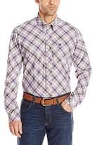 Cinch Men's Classic Fit Long Sleeve Button Down One Open Pocket Plaid Shirt