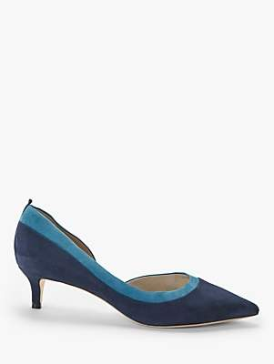 Boden Bryony Suede Kitten Heel Court Shoes