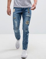 Only & Sons Jeans In Slim Fit With Patches