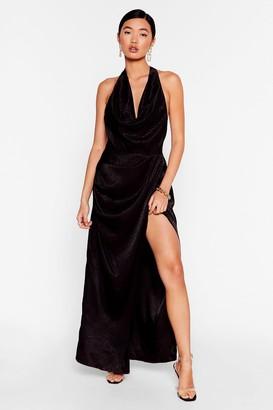 Nasty Gal Womens Cowling All Stars Jacquard Maxi Dress - Black - 6