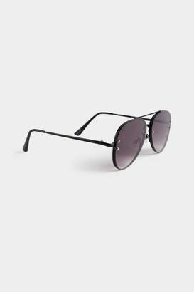 francesca's Lana Aviator Sunglasses - Black