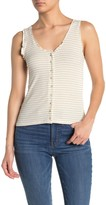 Pst By Project Social T Ruffle Stripe Button Tank Top