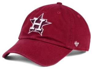 '47 Houston Astros Cardinal and White Clean Up Cap