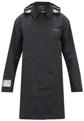Undercover Hooded Photography-print Raincoat - Black