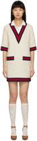 Gucci Off-White Tweed Short Dress