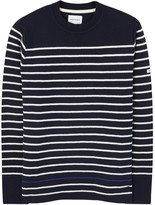 Norse Projects Verner Navy Striped Wool Jumper