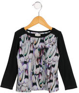 Paul Smith Girls' Feather Print Long Sleeve Top