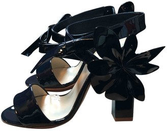 DELPOZO Navy Patent leather Sandals