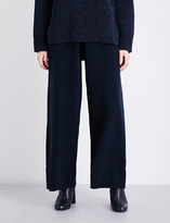 Pringle Wide high-rise knitted trousers