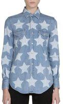 Saint Laurent Bleached Stars Denim Western Shirt