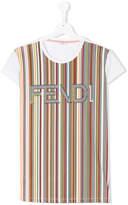 Fendi striped logo T-shirt