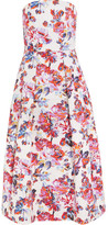 Mary Katrantzou Pearl Printed Cotton-jacquard Dress - White