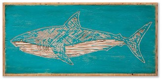 Pottery Barn Shark Carved Wood Wall Art