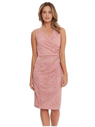 Gina Bacconi Josette Stretchy Corded Lace Dress
