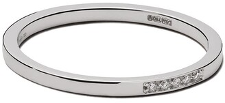 VANRYCKE 18kt white gold and diamond mini Medellin ring