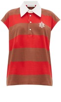 Matthew Adams Dolan - Sleeveless Striped-cotton Rugby Shirt - Womens - Red Multi