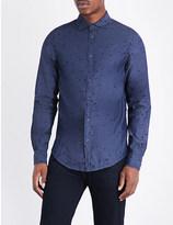 Armani Jeans Eagle-embroidered cotton shirt