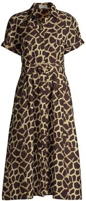 Rebecca Vallance Acacia Giraffe Print Dress