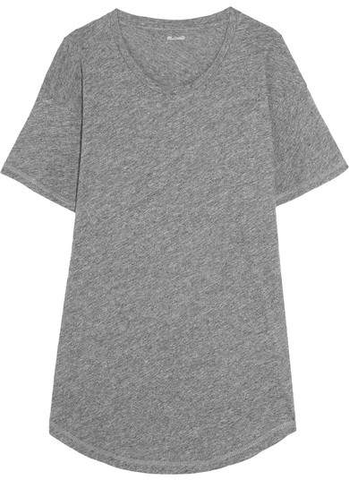 Madewell Whisper Slub Cotton-jersey T-shirt - Gray
