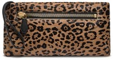 Calvin Klein Collection Leopard Print Calfhair Soft Clutch