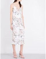 Topshop Floral-print satin dress