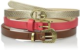 Madden-Girl Women's Three For One Belt with Western Buckle