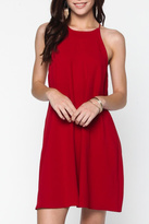 Everly Red Shift Dress