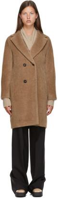 S Max Mara Beige Alpaca Locri Fury Coat