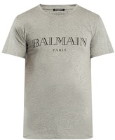 Balmain Logo-printed Crew-neck Cotton T-shirt