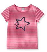 Little Miss Attitude Girls' 2T-6X Pink/White Striped Glitter Graphic Tee