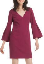 Trina Turk Solid V-Neck Heiress Dress