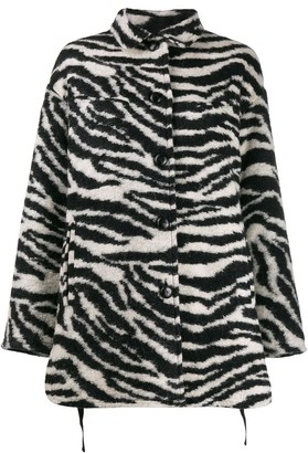 IRO Zebra Print Fitted Coat