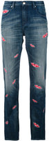 Each X Other lips print boyfriend jeans - women - Cotton/Spandex/Elastane - 27