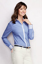 Classic Women's Stretch Shirt-Dark Chambray Floral