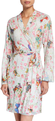 Johnny Was Butterfly Print Knit Robe