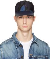 Valentino Blue Nylon Camo Star Cap